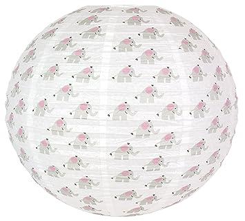 Jabadabado Lampenschirm Elefant Rosa Pastell Weiss Grau Ballon