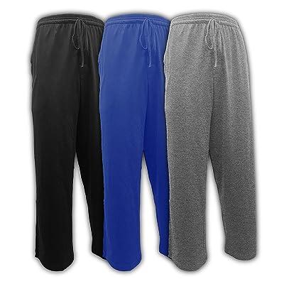 Andrew Scott Men's Pack of 3 Soft & Light 100% Cotton Drawstring Yoga Lounge & Sleep Pant at Amazon Men's Clothing store