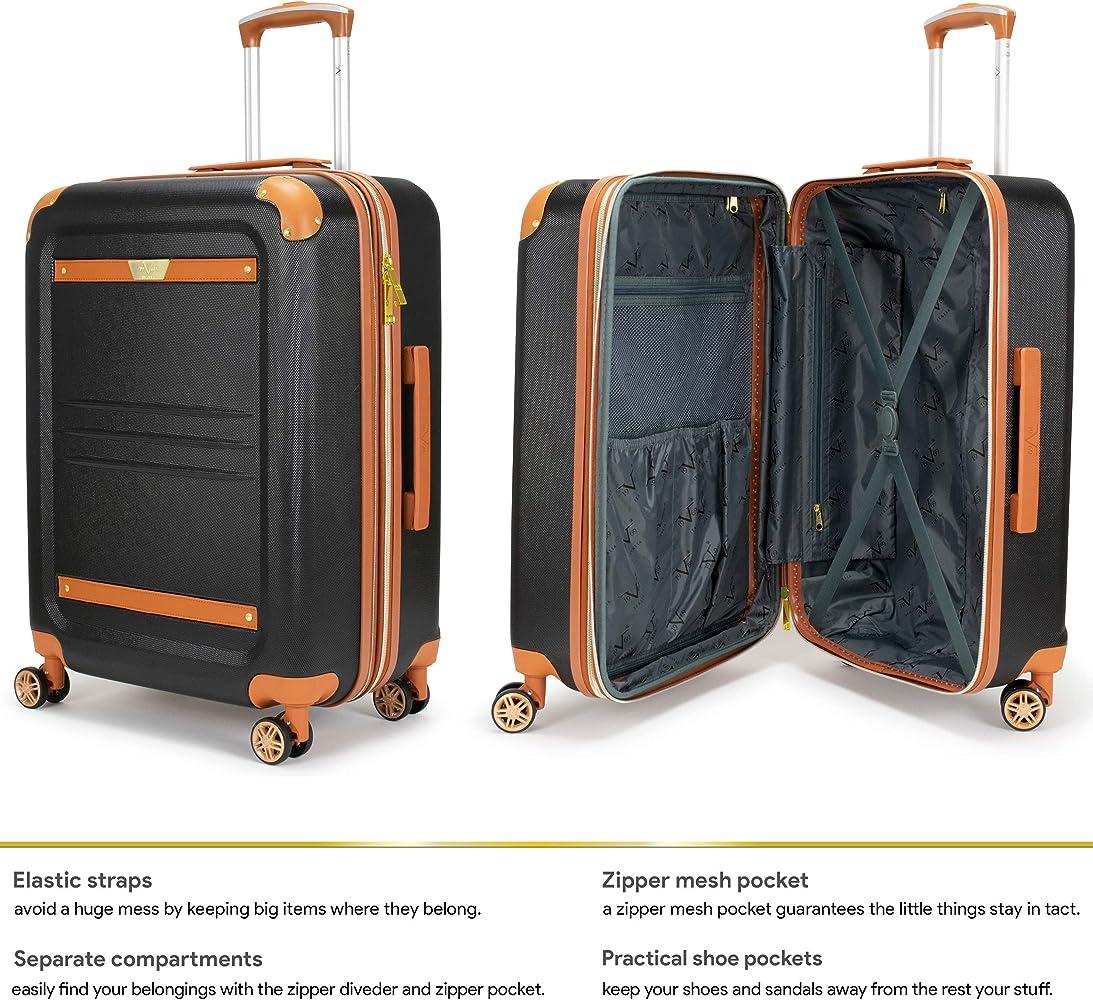 8cd0f99a8 19V69 Italia Vintage 3 Piece Expandable Hard Spinner Luggage Set ...
