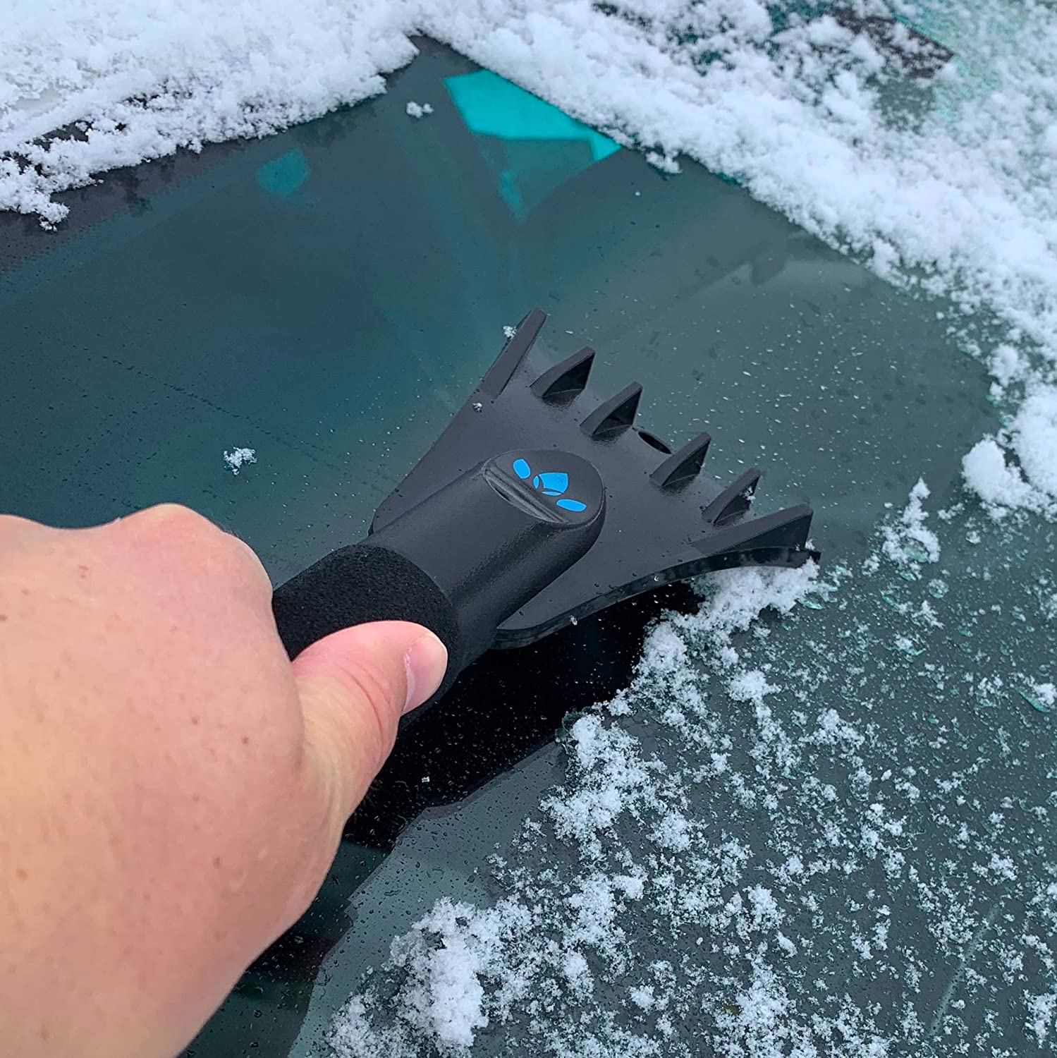 Ice Snow Perfect for Car Windshields /& Windows | | Easily Removes Frost EVERSPROUT Twist-On SnowBuster Ice Scraper Pole Not Included Twists onto Standard US Threaded Pole 3//4-inch Acme