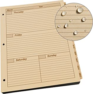 """product image for Rite in the Rain Weatherproof Weekly Calendar Set, 8 1/2"""" x 11"""", Tan Sheets, 65 Weeks (No. 9260W-MX)"""