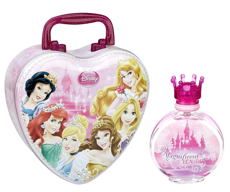 Disney Princess/Principesse/dono-impostato: CUORE-valigia di metallo + Eau de Toilette (profumo) spruzzare 100 ml - per bambini Air-Val P6164