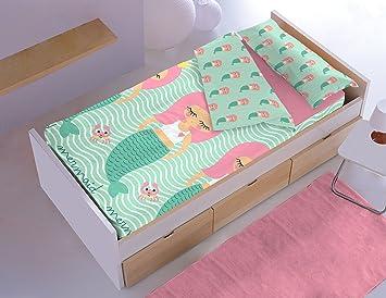 Dormir Happy Saco Nórdico con Relleno Ref. Sirena .Disponible Varios tamaños, para Cama de 90 cm y de 105 cm. (Cama 105 cm.): Amazon.es: Hogar