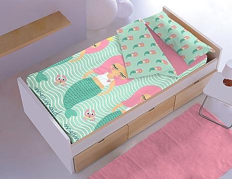 Dormir Happy Saco Nórdico con Relleno Ref. Sirena .Disponible Varios tamaños, para Cama