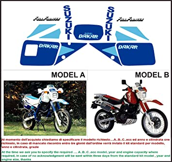 Kit Adesivi Decal Stikers Suzuki Dr 650 R Dakar 1990