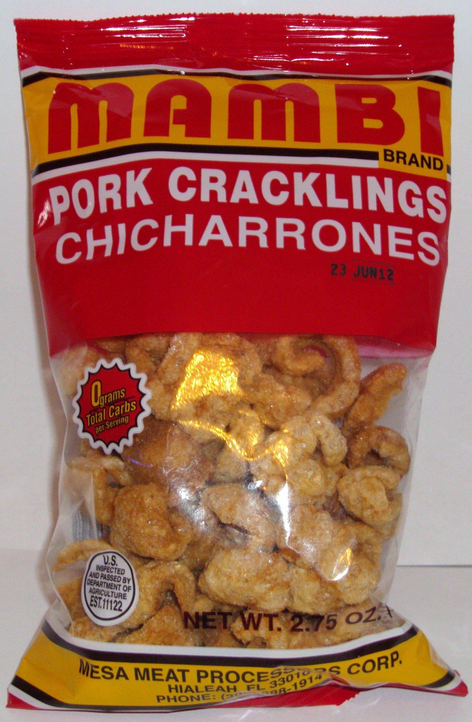 Pork Cracklings - Chicharrones Mambi 2.75 Oz Bag (Pack of 3)