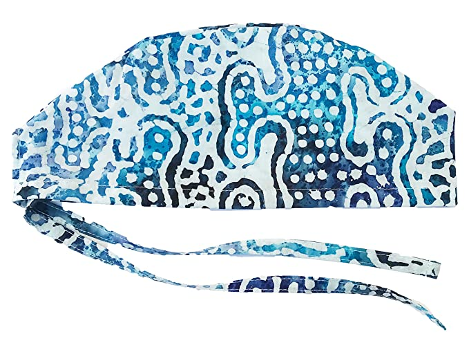 Amazon.com: Hurricane Caps Scrub Cap, Blue Batik: Clothing