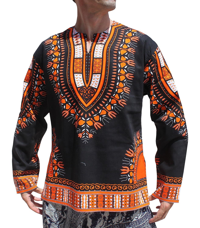 Raan Pah Muang SHIRT メンズ B079WMPN26 X-Large|Black Orange Black Orange X-Large