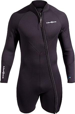 NeoSport Men's Premium Neoprene 7mm Waterman Wetsuit Jacket