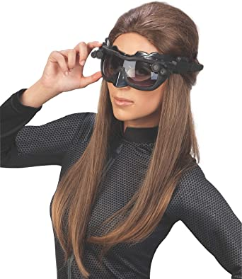 Black Batman The Dark Knight Rises Deluxe Catwoman Goggles mask One Size