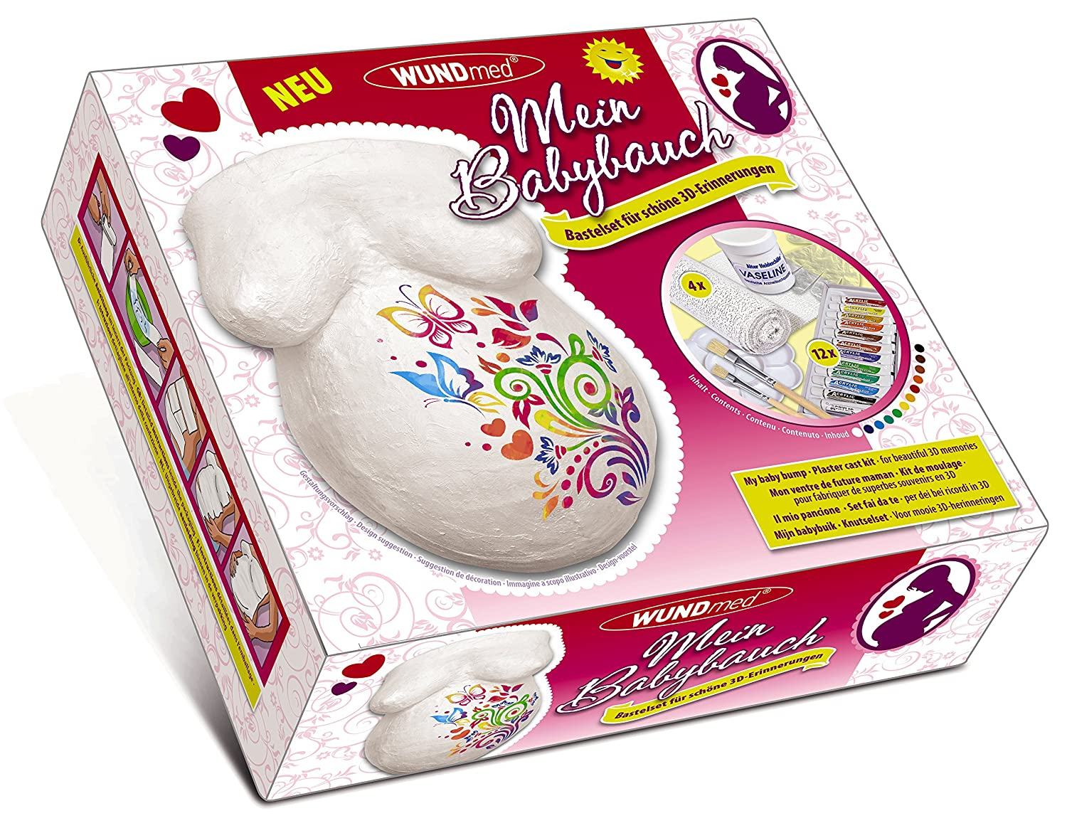 Wundmed - My Baby Belly - Plaster Craft kit for Beautiful 3D Memories