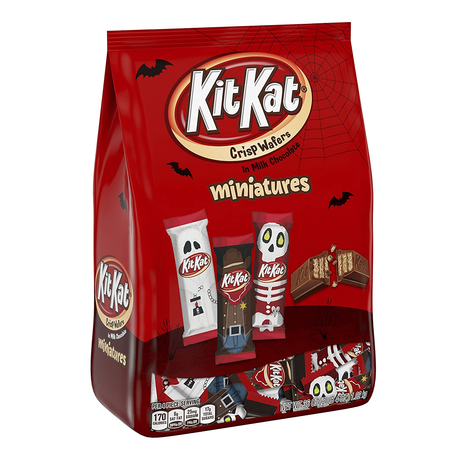 KIT KAT Halloween Chocolate Candy, Spooky Miniatures, Perfect for Halloween Decorations, 36 Ounce Bulk Candy