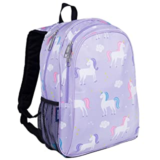 Wildkin Kids 15 Inch Backpack for Boys and Girls, Perfect Size for Preschool, Kindergarten and Elementary School, 600-Denier Polyester Fabric Backpacks, BPA-free, Olive Kids (Unicorn)