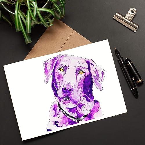 Greeting Card Lab Retriever Dog