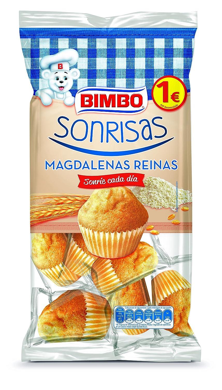 Bimbo - Sonrisas - Magdalenas Reinas (9 unidades) - 265 g: Amazon.es: Alimentación y bebidas
