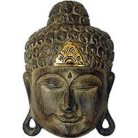 Guru-Shop Maschera Buddha con Decorazione in Oro, Statue di Buddha