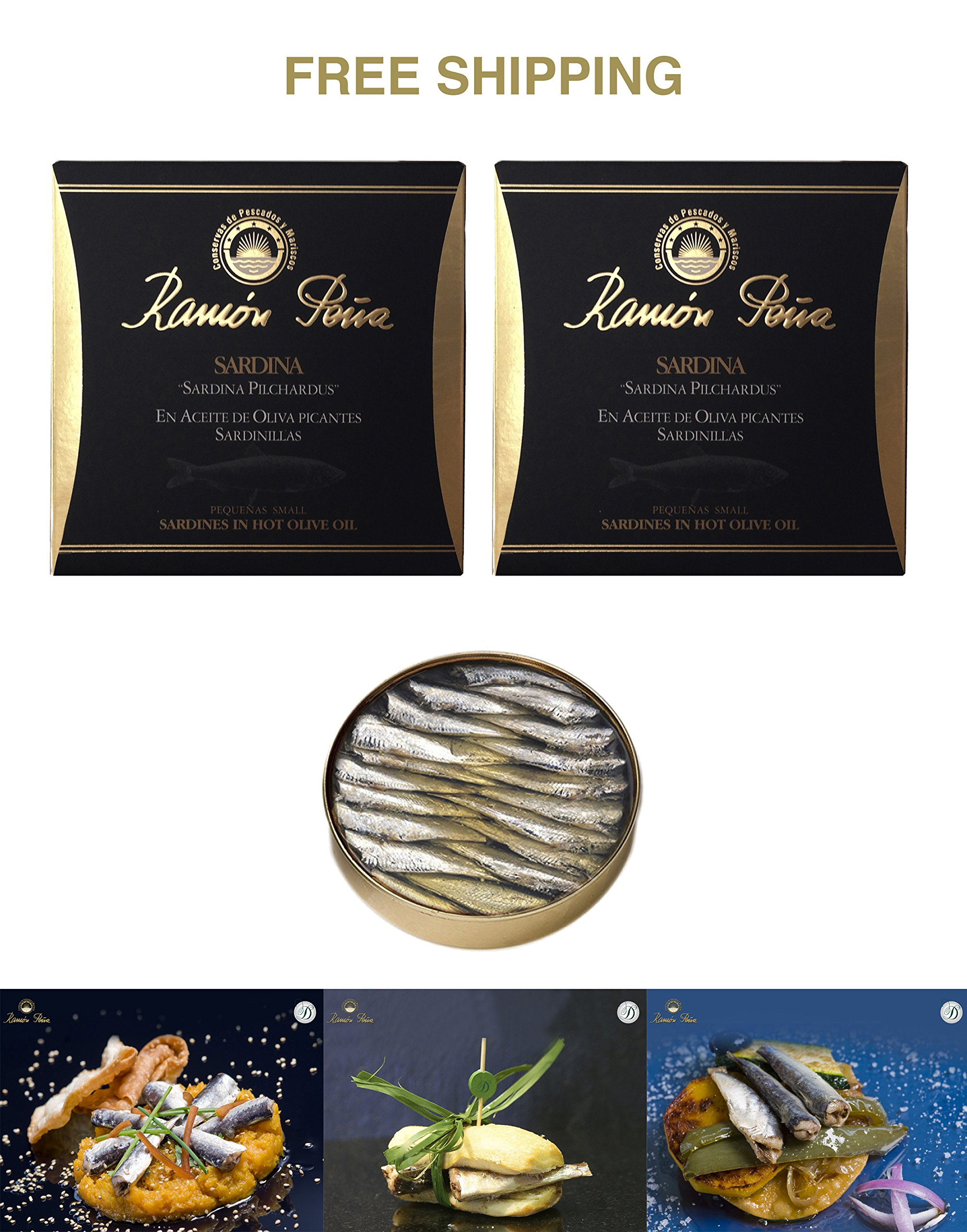 Baby sardines in spiced olive oil (15/20 pieces) 2 tins x 130 g, Ramón Peña / Spain
