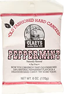 product image for Claey's, Old Fashioned Hard Candy Peppermint, 6 Ounce Bag