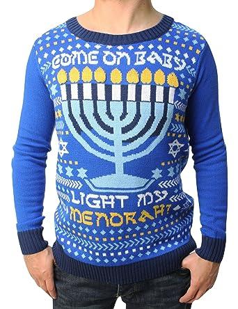 d6f6f22c3 Amazon.com  Ugly Christmas Sweater Teen Boy s Come On Baby Light My ...