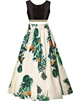 SKY WORLD Girl's Benglori Silk Semi-stitched Lehenga (8-12 Yrs) (World_550)