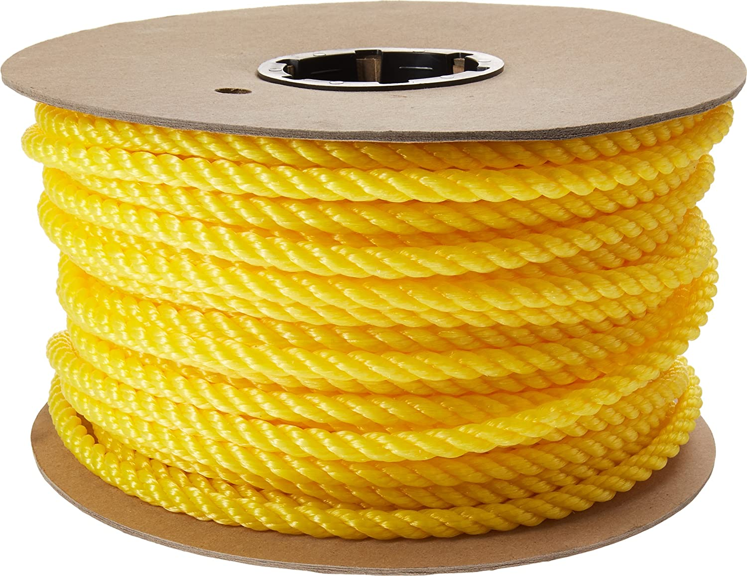 CORDAGE SOURCE Twisted Poly Rope, 3 8-Inch by 225-Feet, Yellow