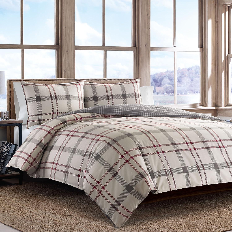 Eddie Bauer Portage Bay Comforter Set, Full/Queen, Grey, 3 Piece