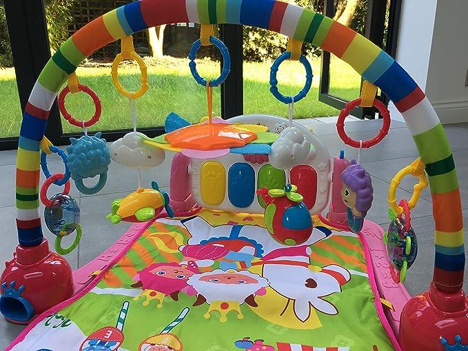 Surreal Alfombra de entretenimiento para bebé 3 en 1, con música y luces: Amazon.es: Juguetes y juegos