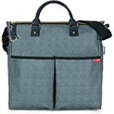 Skip Hop Duo Signature Carry All Travel Diaper Bag Tote with Multipockets, One Size, Blue Pinpoint