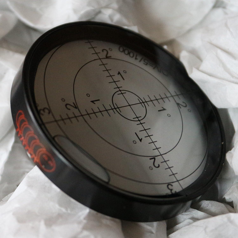 Nivel de burbuja grande de metal, grados, circular, nivel de superficie - recubrimiento de metal, ojo de toro, redondo , 60mm Diá metro 60mm Diámetro Caterpillar Red
