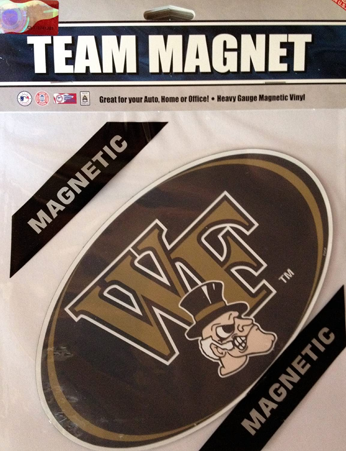 Fremont Die NCAA Wake Forest 8 Vinyl Magnet One Size Multicolor