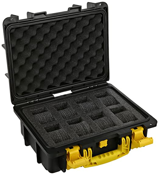 Invicta Eight 8 Slot Plastic Collector Box Yellow/Black/Grey