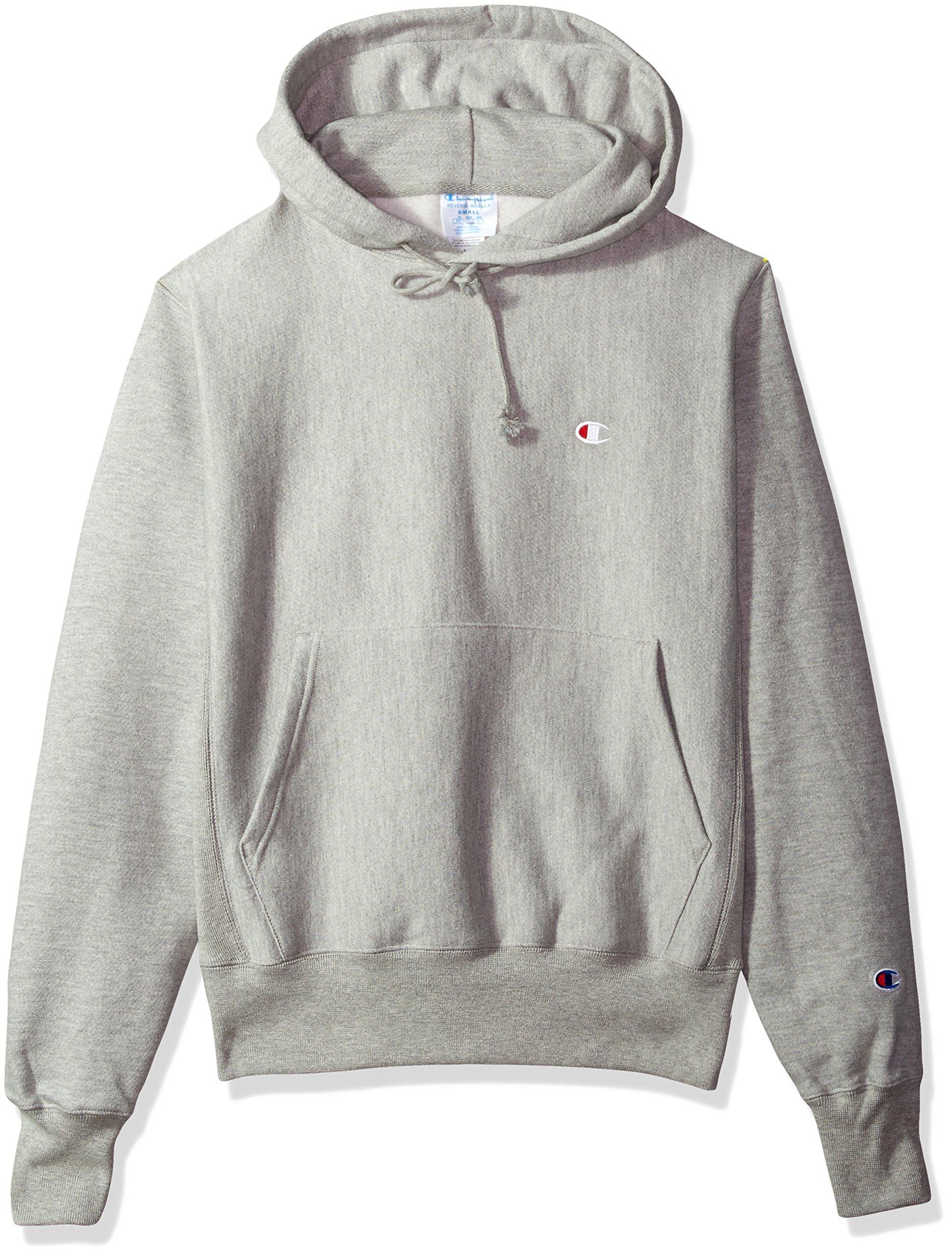 724cfc05 Galleon - Champion LIFE Men's Reverse Weave Pullover Hoodie, Oxford Gray/Left  Chest C Logo, Medium