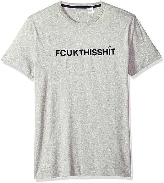 ef67e06a3b7 French Connection Men's Short Sleeve Crew Neck FCUK Slogan Cotton T-Shirt:  Amazon.co.uk: Clothing