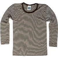Cosilana Sudadera Camisa – para niños – manga larga de lana virgen KBT y seda de WOLL Body