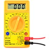 Neiko 40508 830B Digital Multimeter | AC/DC Voltage, DC Current, Resistance, Diodes, Transistor hFE Tester | Max Reading 1999
