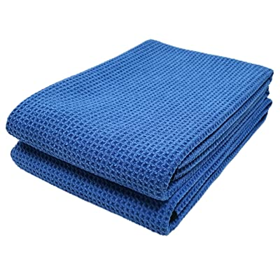 Polyte Elite Microfiber Drying Towel (25x36, 2 Pack, Waffle, Blue): Automotive