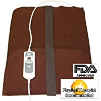 """Natural Relief Extra Large Digital Moist Heating Pad with Coral Sand - Auto Shut Off - Strap - Negative Ion (27""""x14"""")"""