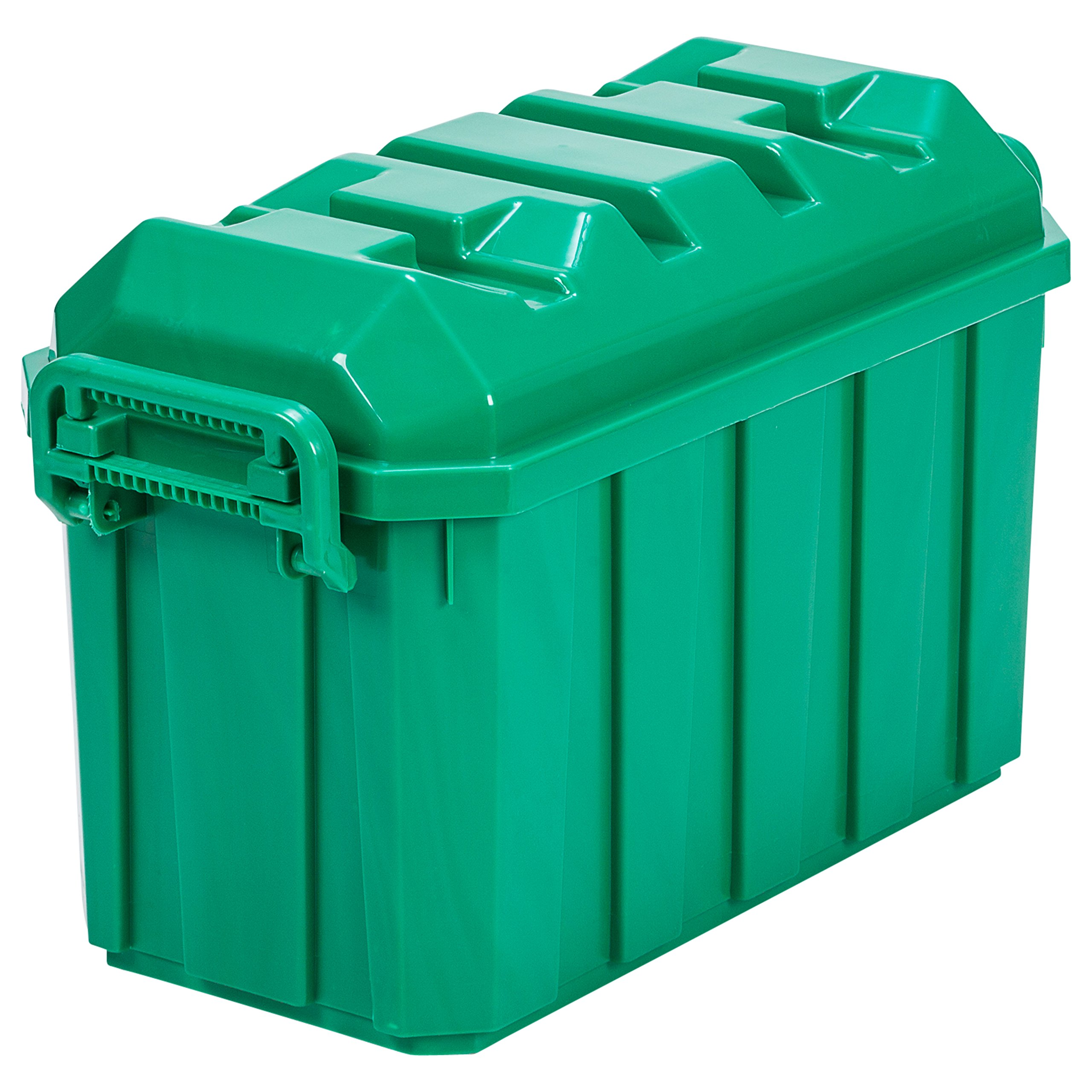 ECR4Kids 18-Gallon Stackable Storage Trunk, Green (4-Pack)