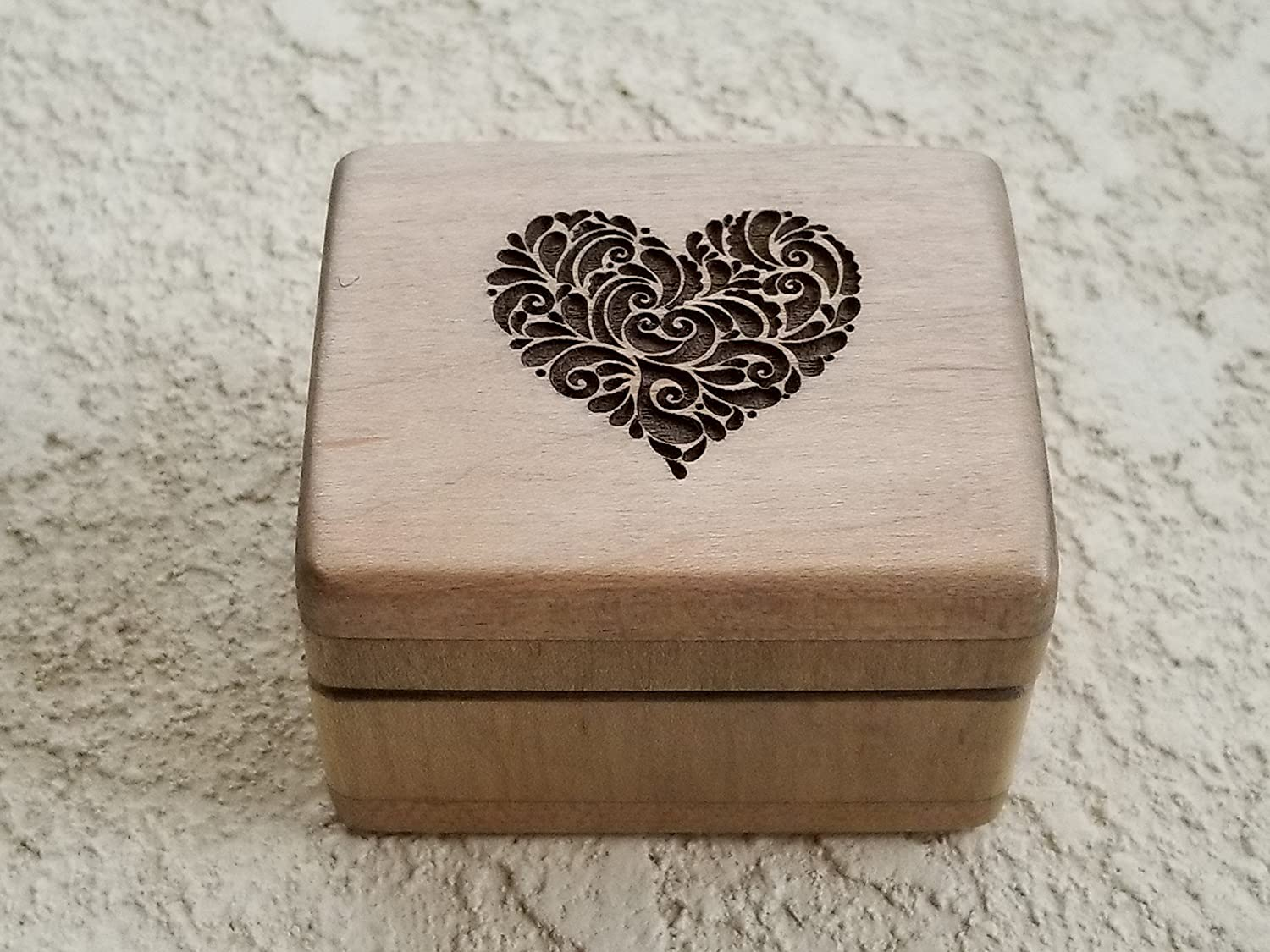 Custom engraved wooden ring box, engagement ring box handmade by Simplycoolgifts