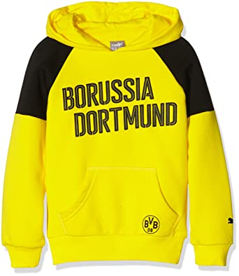 4aede3adee Puma Kinder Pullover BVB Borussia Hoody Cyber Yellow-Black, 140 ...