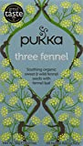 Pukka Organic Three Fennel 20 Teabags (Pack of 4, Total 80 Teabags)