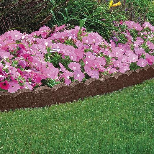 Garden Gear Neumático de Goma reciclada para jardín, Camino y Patio (1 Borde de 4 x 1, 2 m): Amazon.es: Jardín