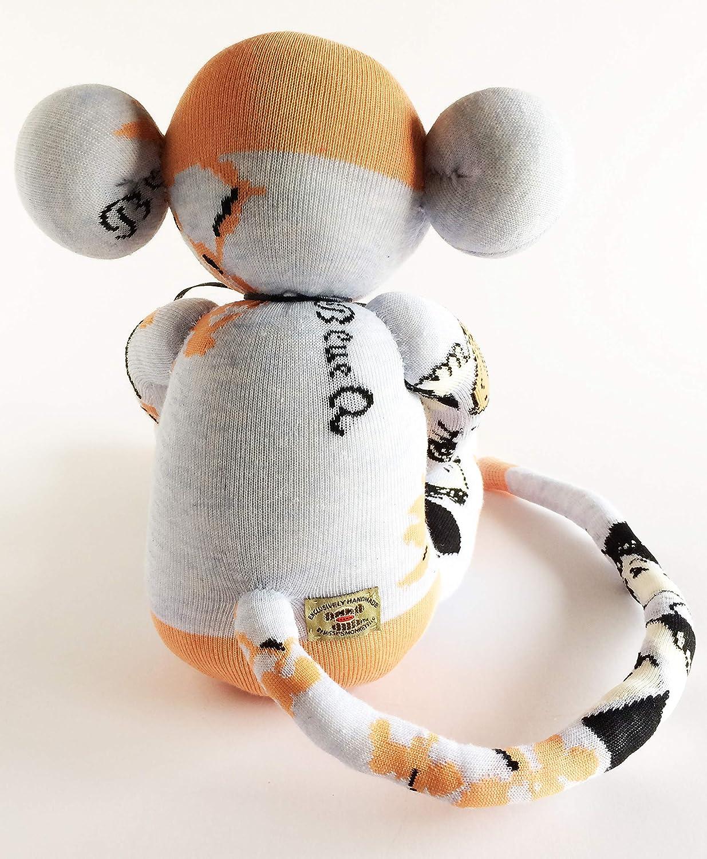 Nursery Decor Beautiful Sock Monkey -Sock Monkey Youre beautiful Orange Sock Monkey Friendship Peach Sock Monkey Self Esteem