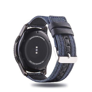 Correa de Piel auténtica y algodón para Reloj Samsung Galaxy ...