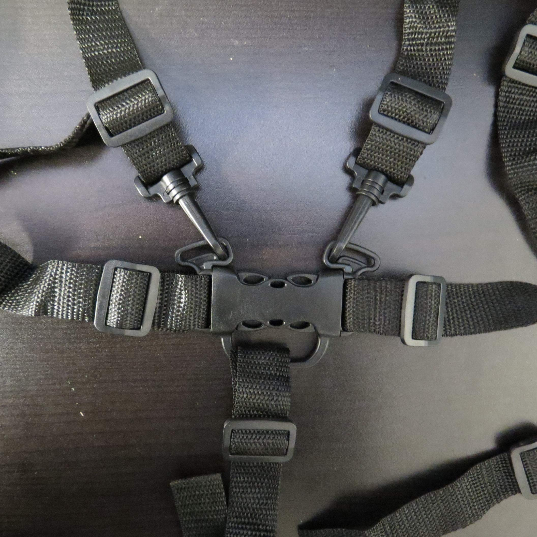 Replacement Parts/Accessories to fit J is for Jeep Stroller Products for Babies, Toddlers, and Children (5 Point Harness Buckle w/Clips+Straps)