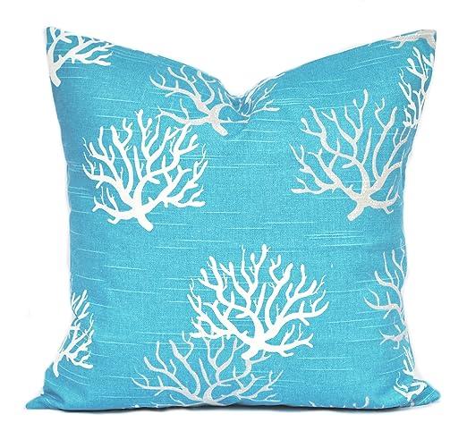 Amazon.com: One Turquesa Coral fundas de almohada cojín de ...