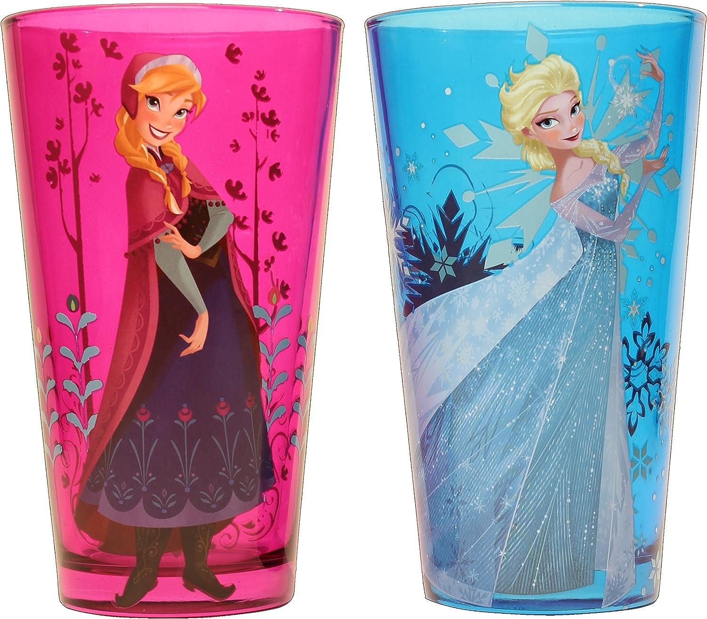 Silver Buffalo DP031P5 Disney Frozen's Anna and Elsa Pint Glass Set, 2-Pack