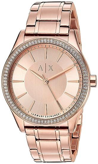 e304554218bc Armani Exchange Mujer ax5442 oro rosa reloj  Armani Exchange  Amazon ...