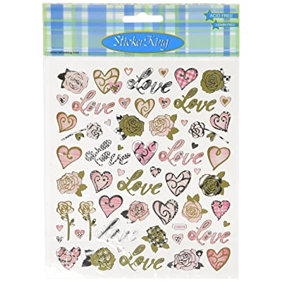 Tattoo King Multi-Colored Stickers-Love & Roses: Arts, Crafts & Sewing
