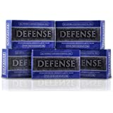 Defense Soap 4 Ounce Bar (Pack of 5) - 100 Percent Natural Pharmaceutical Grade Tea Tree Oil and Eucalyptus Oil